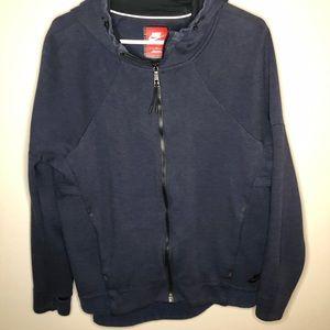 Men's Nike Zip Up Hoodie Size Large Navy Blue